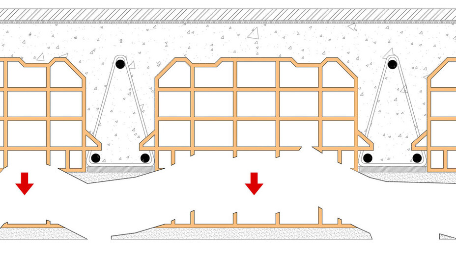 article illustration, anti-collapse, drawing, soffit, parts of soffit falling off