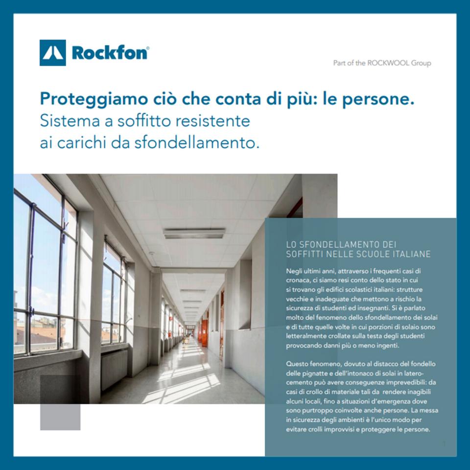 Brochure antisfondellamento | Rockfon